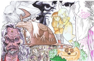 The Dark Crystal Jam: left half Comic Art